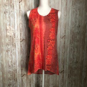Nally & Millie Multicolor Tank Top Tunic Size Smal
